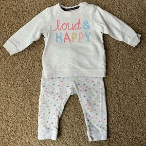 Toddler girls H&M sweatsuit outfit